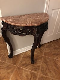 Stoned wooden table