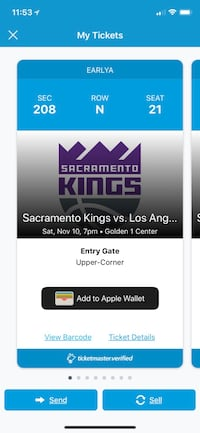 Kings vs Lakers tickets 8 available! Nov 10th  Arcade, 95825