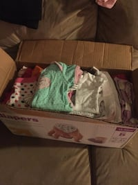 One box baby girl clothes