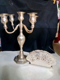 Silver candlabra and other various items Pahrump