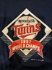 Minnesota Twins 1987 World Champs T-Shirt Minneapolis, 55438