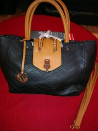 black and brown leather tote bag Houston, 77076