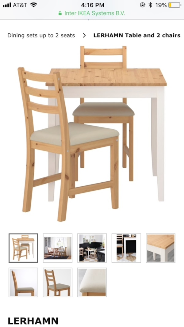 Sensational Ikea Lerhamn Dining Table And 2 Chairs Ibusinesslaw Wood Chair Design Ideas Ibusinesslaworg