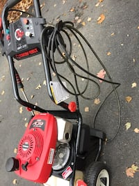 Red and black pressure washer Bristow