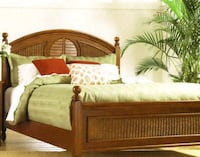 Twin brown wooden bed  Greensboro, 27405