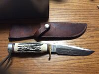 brown handled knife with sheath Florence, 41042