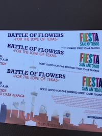 3 BATTLE OF FLOWERS PARADE TIX  San Antonio, 78215