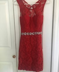 Red open back tight dress Mililani, 96789