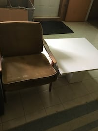 Wooden chair and white table  Laval, H7G