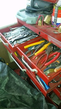 red and black tool cabinet Laval, H7M 4T6