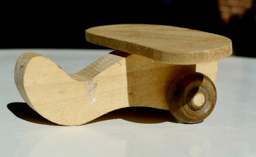 """A Solid Imported Classic -Wooden Plane Toy For Kids - 4"""" a297ef26-d303-4ca8-8a4b-2f4c7d4fee1f"""