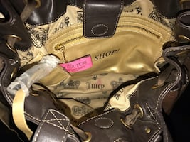 Auth.Juicy Couture brown purse brand new