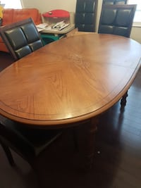 """Dining room table 64"""", plus two 19"""" leaves"""