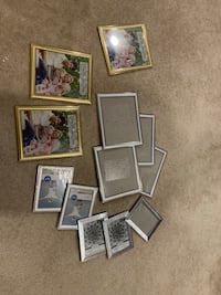 assorted color photo frame lot