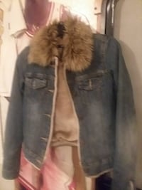 Abercrombie and Fitch Jean furr jacket XS