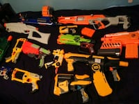 Assorted Nerf Gun Collection