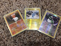 3 rare holo legendary Pokémon cards