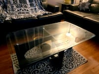 Solid wood glass coffee and end table  Milton, L9T 5Y6