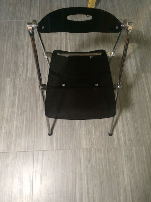 Outstanding Used Set Of 4 Acrylic Smoked Folding Chairs New For Sale In Pabps2019 Chair Design Images Pabps2019Com