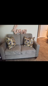 gray suede loveseat Lake Mary, 32746