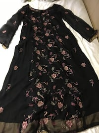 Punjabi Dress black with roses 10$ is obo Calgary, T1Y 2E7