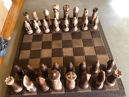 Ceramic chess set and board