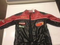 red and black leather zip-up jacket Winnipeg, R2J 0P9