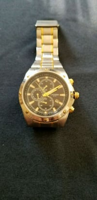 round gold chronograph watch with link bracelet City of Industry, 91746