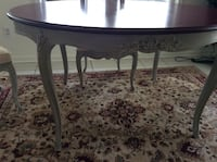 Mahogany painted table with chairs Flowery Branch, 30542