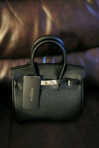 Genuine Black Leather handbag Heath, 43056
