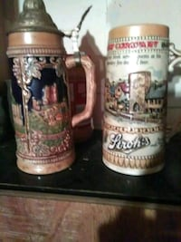 two brown and white ceramic beer steins Vine Grove, 40175