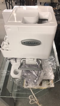 White and gray plastic container