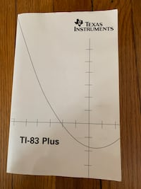 Texas instruments TI-83 Plus Book