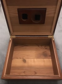Humidor or pot wood box - heavy, good quality  Sterling, 20164