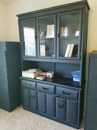 black wooden TV hutch with flat screen television Ellisville, 63011