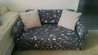 Grey and White Floral Sofa Baltimore, 21230