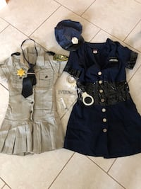 Police and sheriff costume police costume is large sheriff costume is size small Venice, 34285