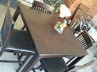 Wood table with 4 chairs Bellflower, 90706
