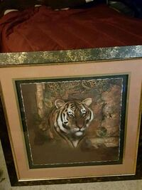 painting Tiger Picture Frame