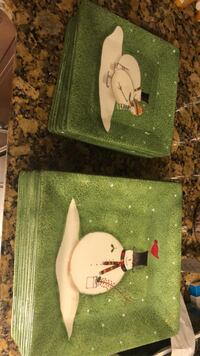 Snowman holiday plates set of 8 Voorhees, 08043