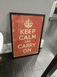 Keep calm and carry on poster in glass frame Washington, 20010