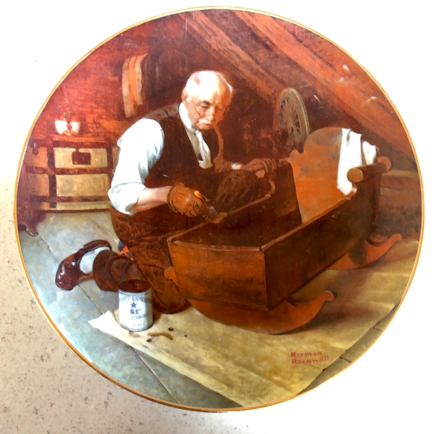 Photo Norman Rockwell decorative plate