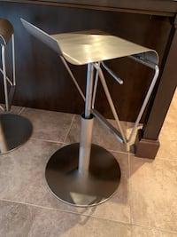 Stainless steel bar stools (2)