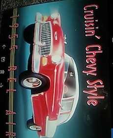 Cruisin Chevy style tin sign