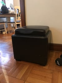 Leather black storage ottoman with table top  Seattle, 98119