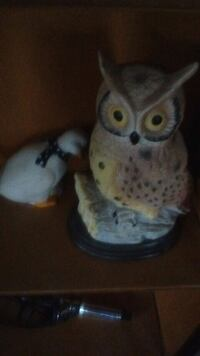 white and blue owl ceramic figurine Granite Falls, 28630