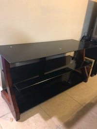 Tv stand - glass and wood