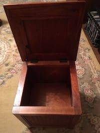 Wood & Wicker Storage Cube/Nightstand Chevy Chase