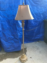 brown floor lamp