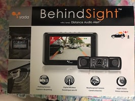 "Brand new 5"" backup camera with audio alert"